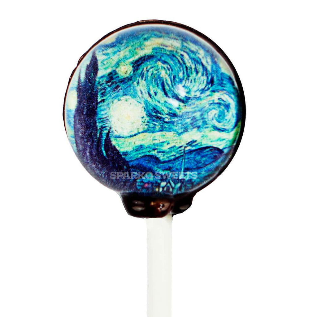 Starry Night Picture Lollipops (10 Pieces) - Sparko Sweets