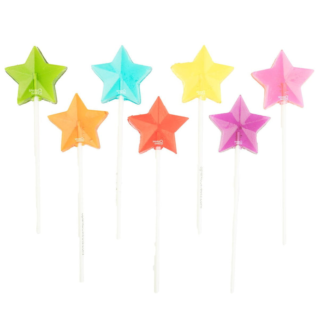 Rainbow Star Fireworks Lollipops - Mix Colors (24 Pieces)