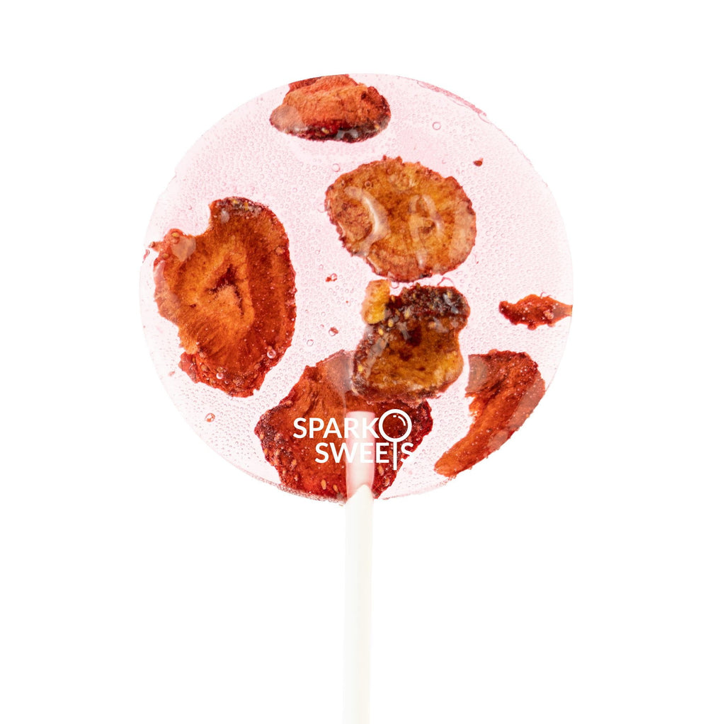 Strawberry Power Natural Pops Lollipops (8 Pieces) - Sparko Sweets