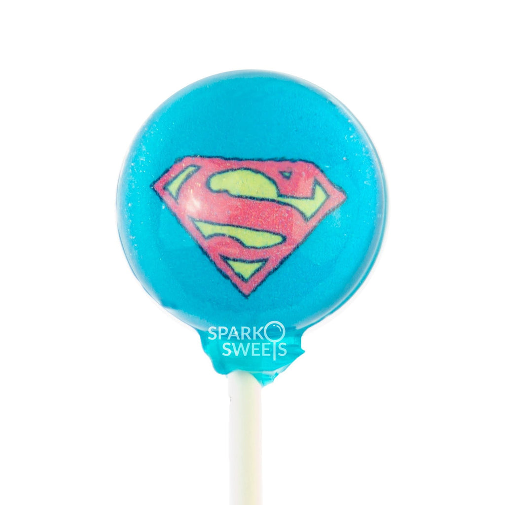 Superman Cartoon Picture Lollipops (10 Pieces) - Sparko Sweets