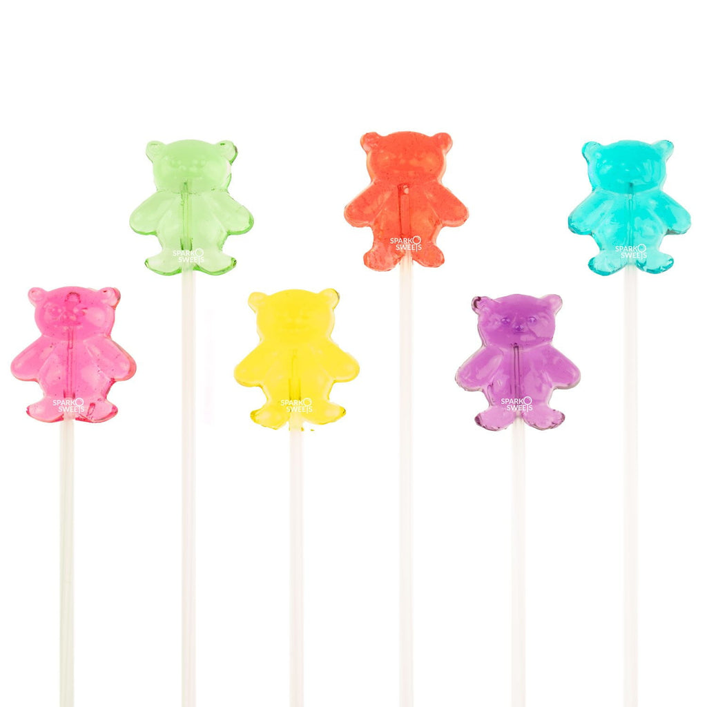 Sugar Free Bear Lollipops Long-Stem Twinkle Pops (120 Pieces) - Sparko Sweets