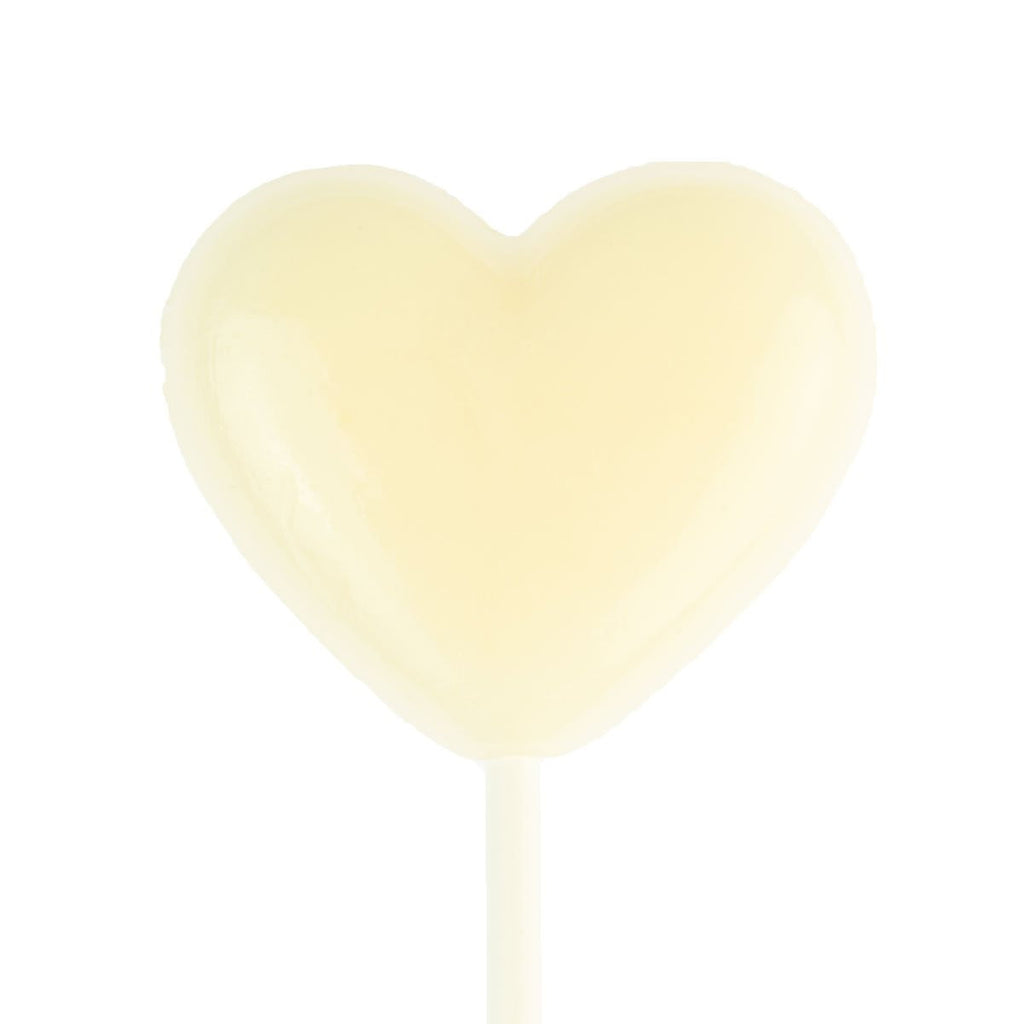 White Heart Lollipops (24 Pieces) - Milk - Sparko Sweets