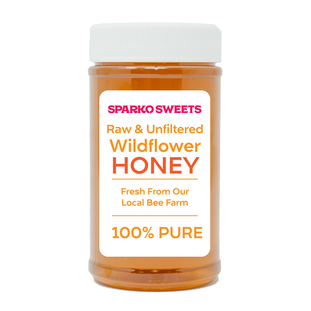 100% Pure Raw Wildflower Honey - 1 lb. - Sparko Sweets