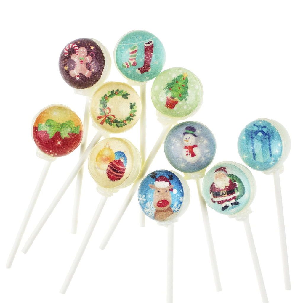 Christmas Characters Picture Lollipops (10 Pieces) - Sparko Sweets