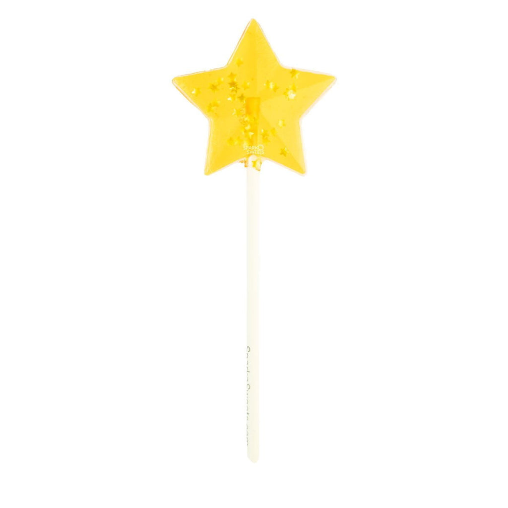 Starry Yellow Star Fireworks Lollipops (24 Pieces)