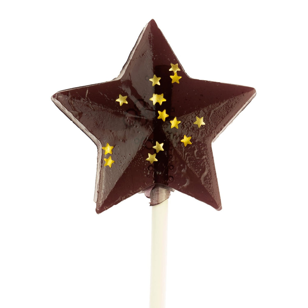 Black Gold Star Lollipops - Grape (24 Pieces) - Sparko Sweets