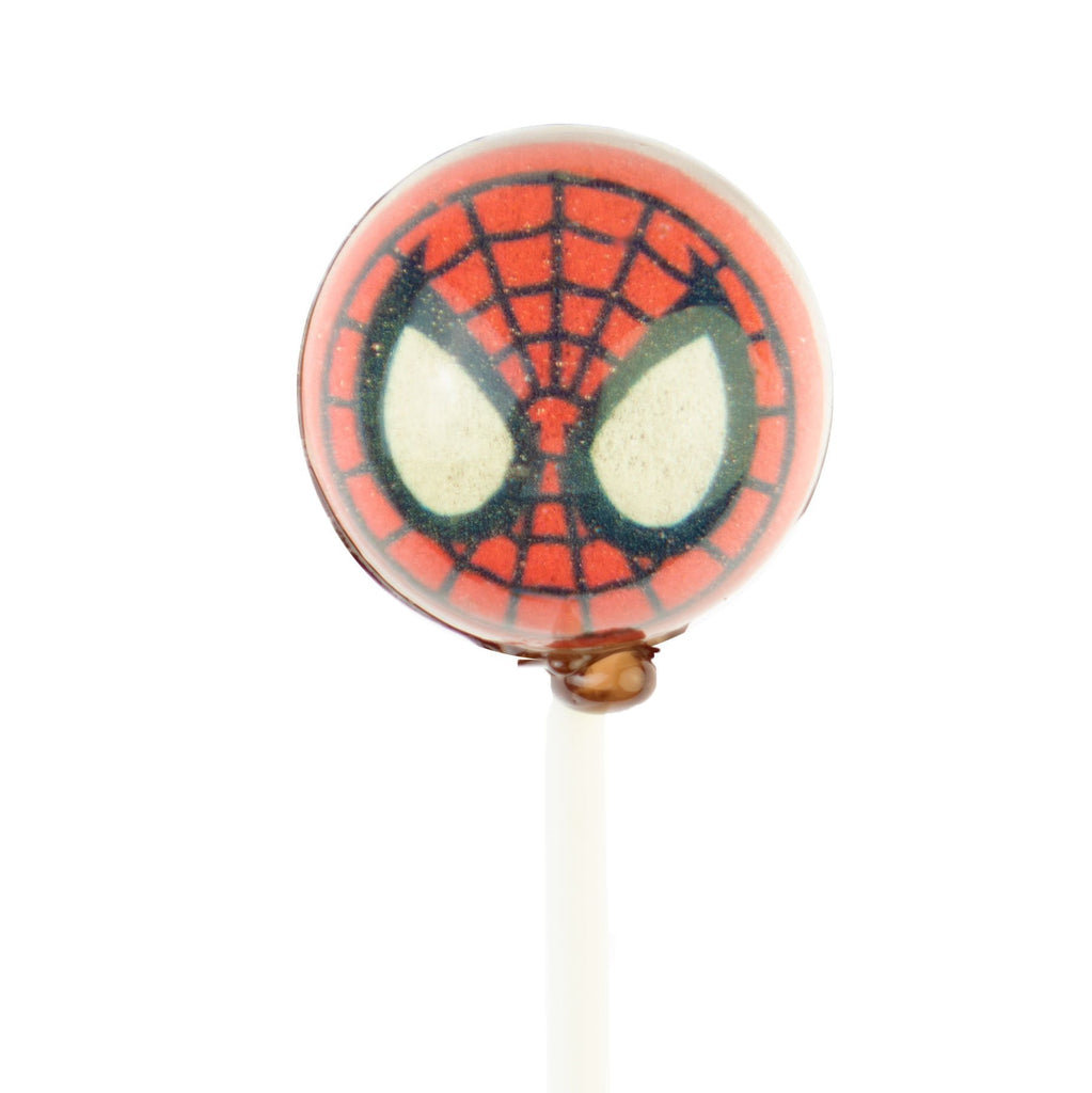 Spiderman Cartoon Picture Lollipops (10 Pieces) - Sparko Sweets