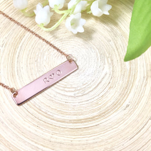 Custom name bar necklace