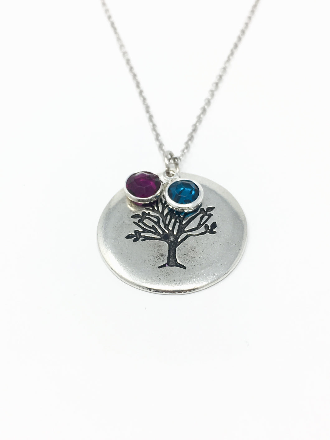 Birthstone family tree necklace - OrinStyles