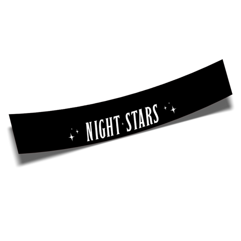 night stars banner black