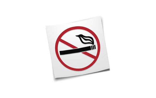 no smoking! diecut