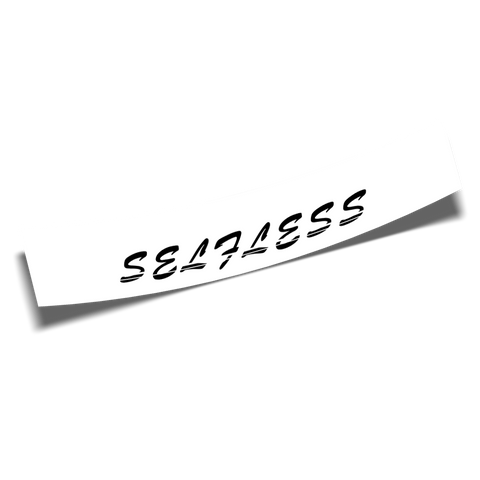 selfless banner white