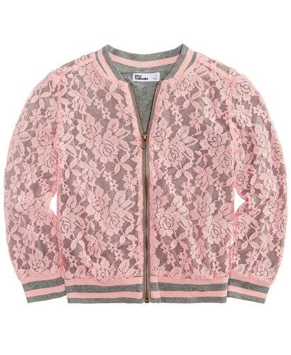 Lace Bomber Jacket