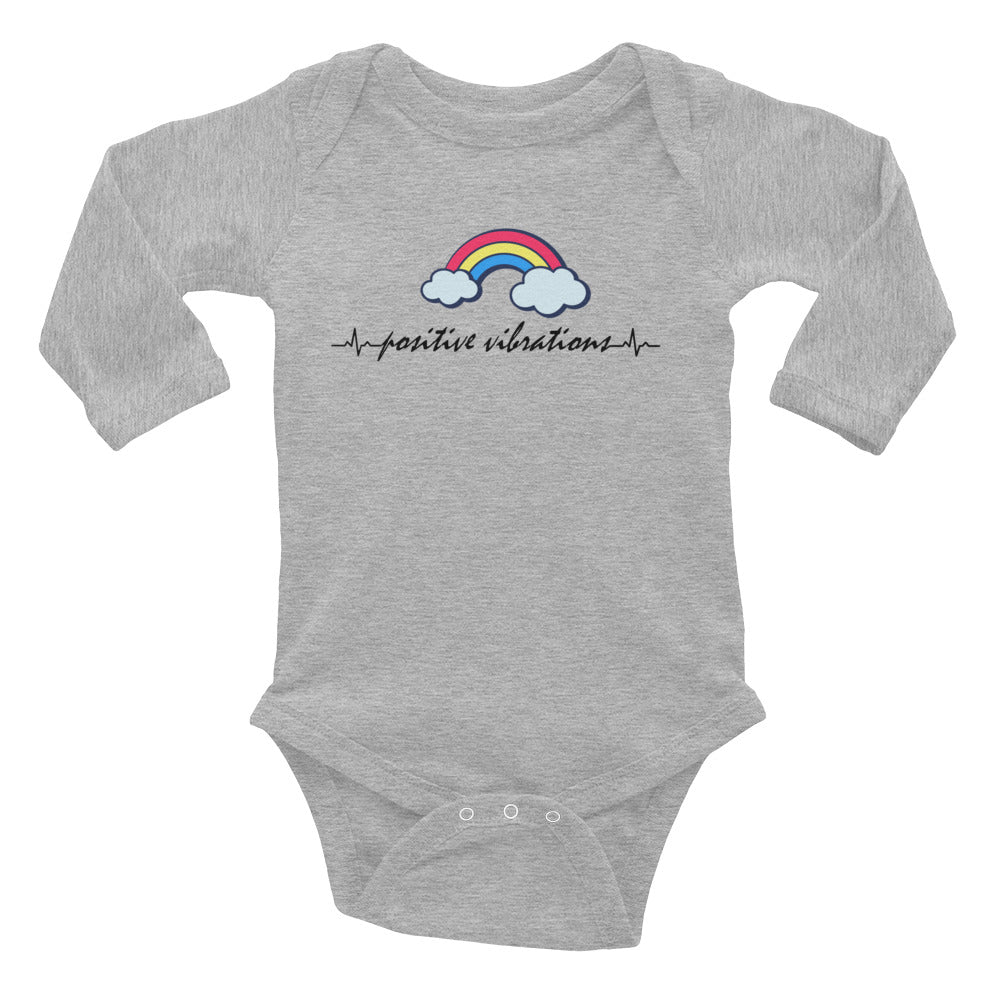 Positive Vibes Baby Long Sleeve Bodysuit