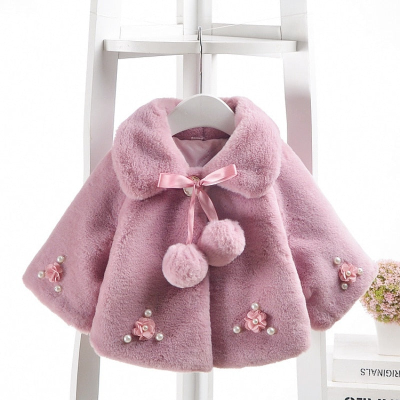 Flower Blossom Winter Coat