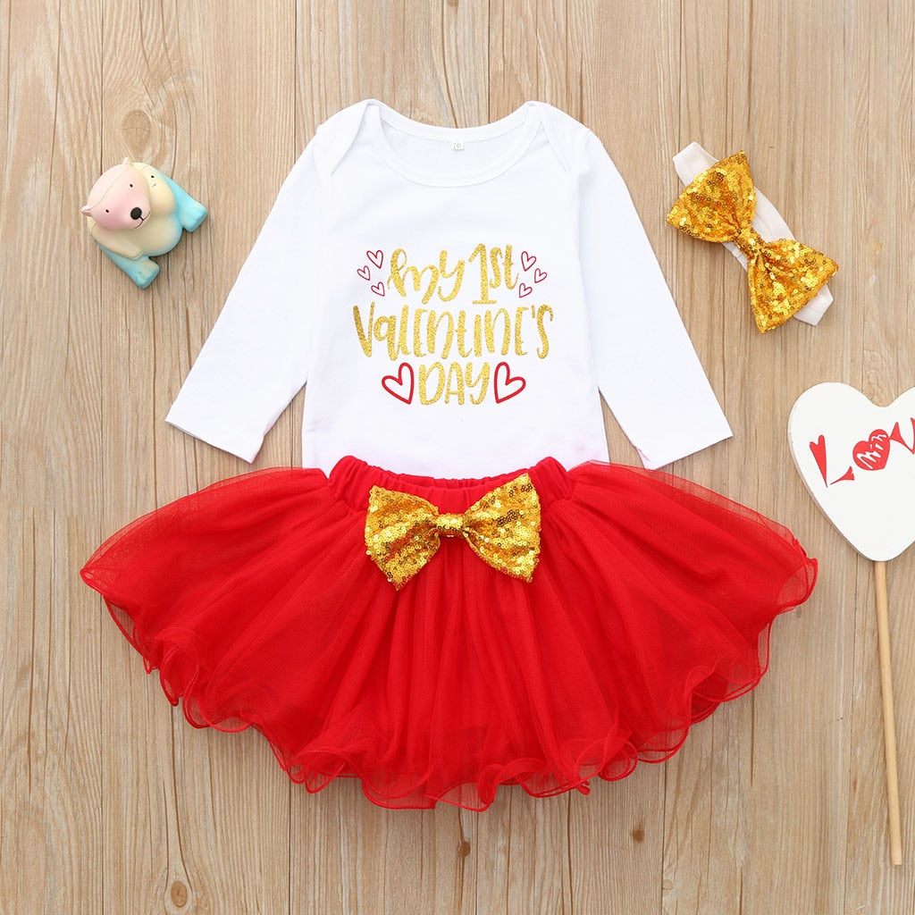 First Valentines Tutu Set