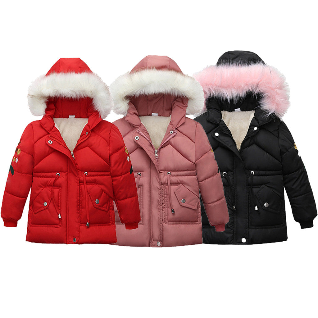 Faux Fur Windproof Jacket