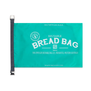 Aqua Bread Bag Open