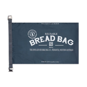 Charcoal Bread Bag Open