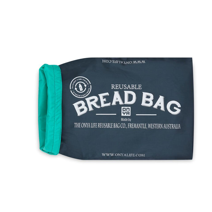 Charcoal Bread Bag Rolled back