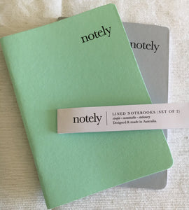 Spearmint & Grey – A6 Notebooks (Set of 2)
