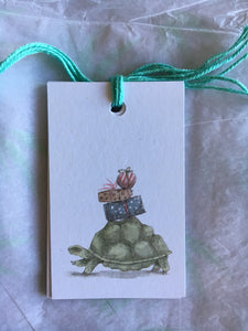 Festive Trees and Tortoise Gift Tags 6 pk