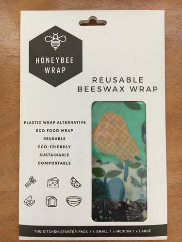 Reusable Beeswax Wrap - 3 pack