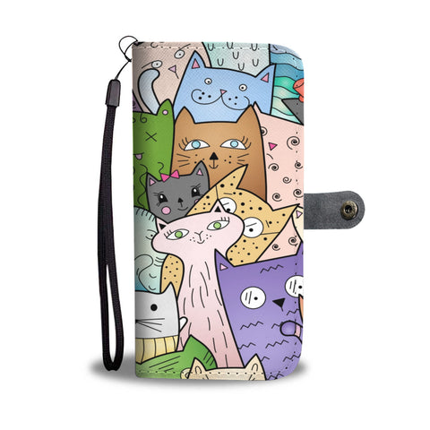 World of Cats Wallet Case - TheCatsPlaceStore