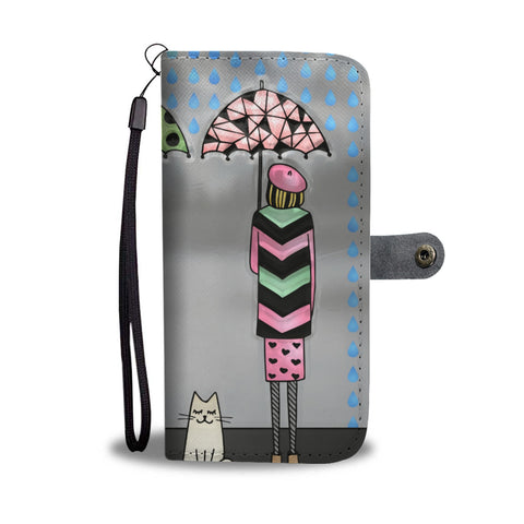 Smart Cat Avoiding rain Wallet Case ??? - TheCatsPlaceStore