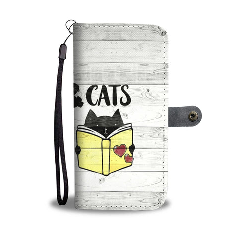 Books & Cats Wallet Case - TheCatsPlaceStore
