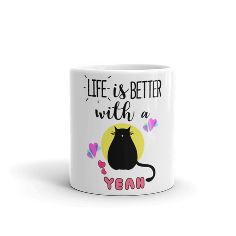 Life is Better with a Cat Mug - TheCatsPlaceStore