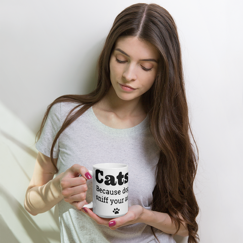Cats are cooler than dogs Mug