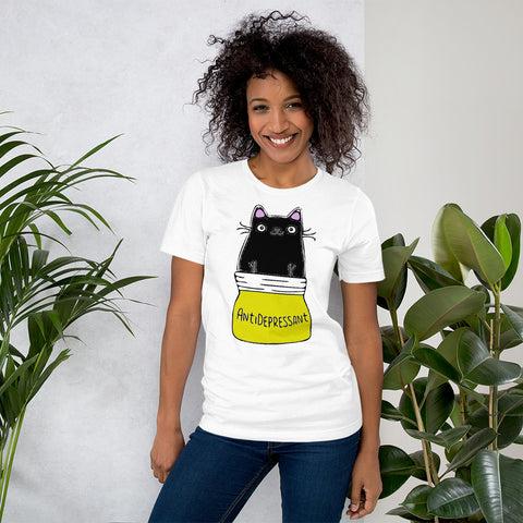 Antidepressant Cat Unisex T-Shirt