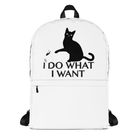 I Do What I Want Backpack - TheCatsPlaceStore