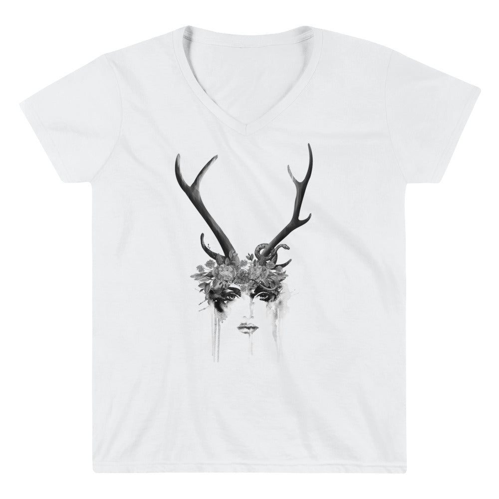 DeerWomen V-Neck Shirt