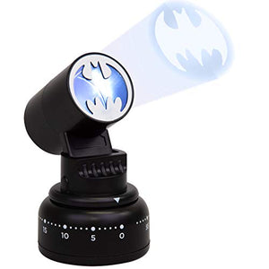 DC Batman Kitchen Timer - Bat Signal Lights Up When Done - Cook Like a Super Hero - Nerd Gear Lab