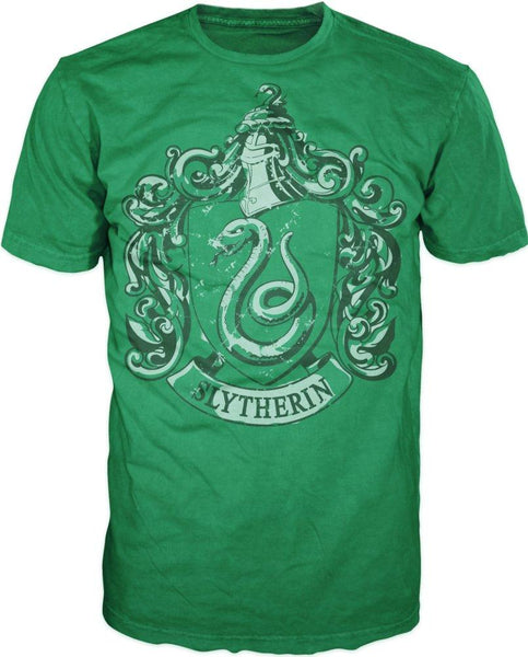 Harry Potter Slytherin Crest Men's Green T-Shirt - One of Four Houses of Hogwarts - Nerd Gear Lab