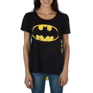 Batman Bat Logo 2 Capes Cape Top T-shirt - Nerd Gear Lab