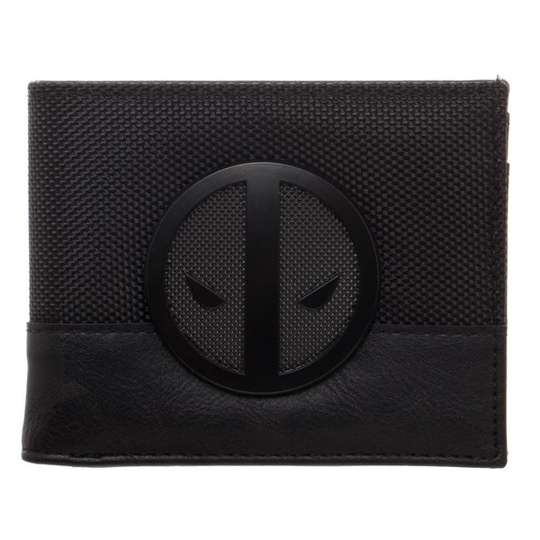 Deadpool X-Force Insignia Bi-Fold Wallet, Faux Leather Detail in Grey and Black - Nerd Gear Lab