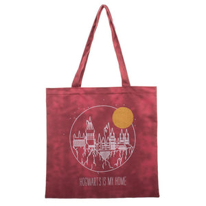 Harry Potter Hogwarts Is My Home Canvas Tote Bag - Nerd Gear Lab