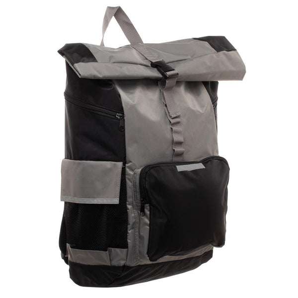 Men's Grey Backpack  RollTop Backpack for Men - Nerd Gear Lab