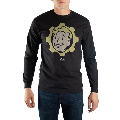 Black Long Sleeve Fallout Vault Boy T-Shirt - Nerd Gear Lab