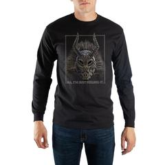 Black Panther Killmonger Mask Long Sleeve Tee - Nerd Gear Lab