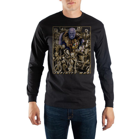 Marvel Avengers Character Long Sleeve T-Shirt - Nerd Gear Lab