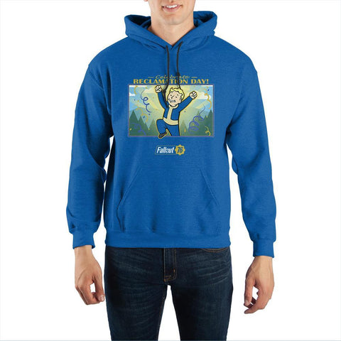 Fallout Reclamation Day Pullover Hooded Sweatshirt - Nerd Gear Lab