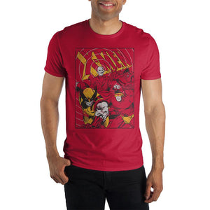 Marvel Comics X-Men Men's Red T-Shirt - Nerd Gear Lab