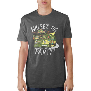 Teenage Mutant Ninja Turtles Where's The Party? Charcoal T-Shirt - Nerd Gear Lab