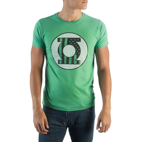 DC Comics Green Lantern Americana Heather T-Shirt - Nerd Gear Lab