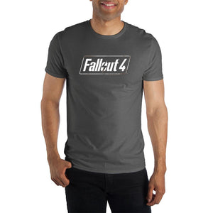 Fallout 4 Logo Men's Charcoal  T-Shirt - Nerd Gear Lab