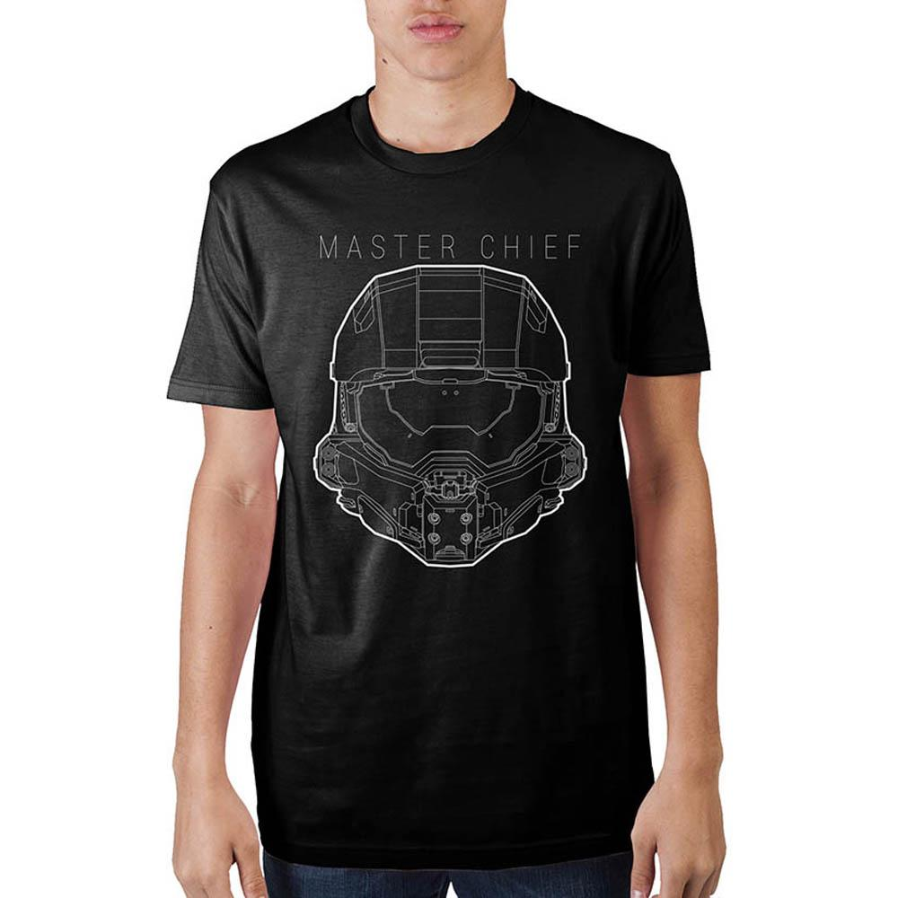 Halo Master Chief Black T-Shirt - Nerd Gear Lab